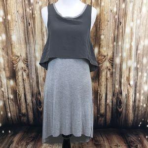 All saints women's Gray Rubin dress size 0